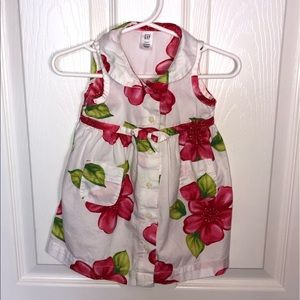 3 to 6 month Infant Baby Girls Floral Dress by GAP